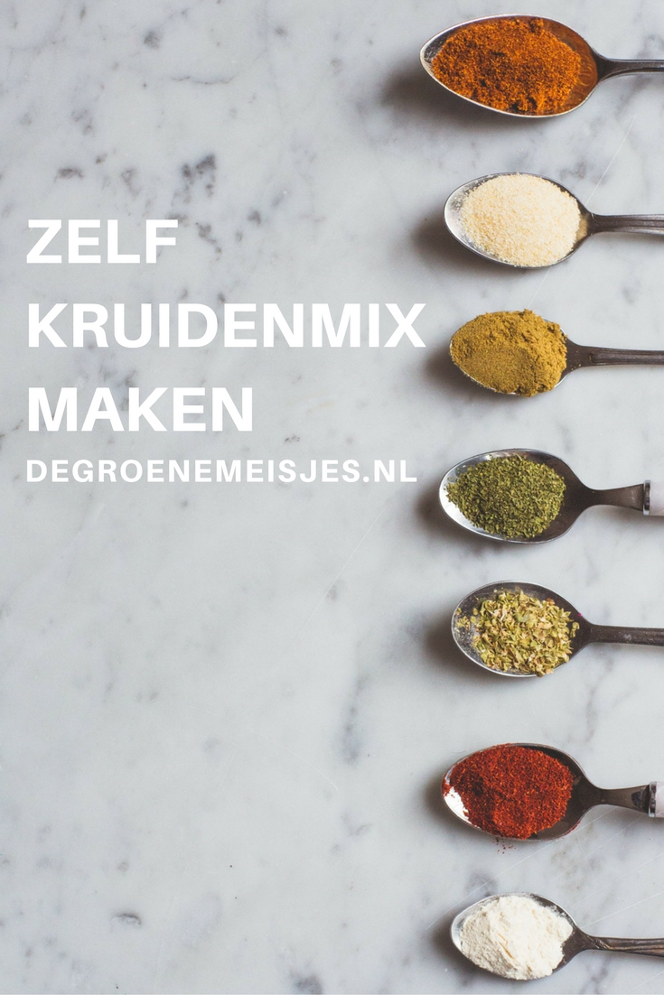 Makkelijk en handig om te maken deze Pumpkin Spices mix, Italiaanse kruiden mix en Taco mix. Maak een grote hoeveelheid en bewaar het in een mooie pot. Lees alles over de mixen en wat je er mee kunt maken op de blog.