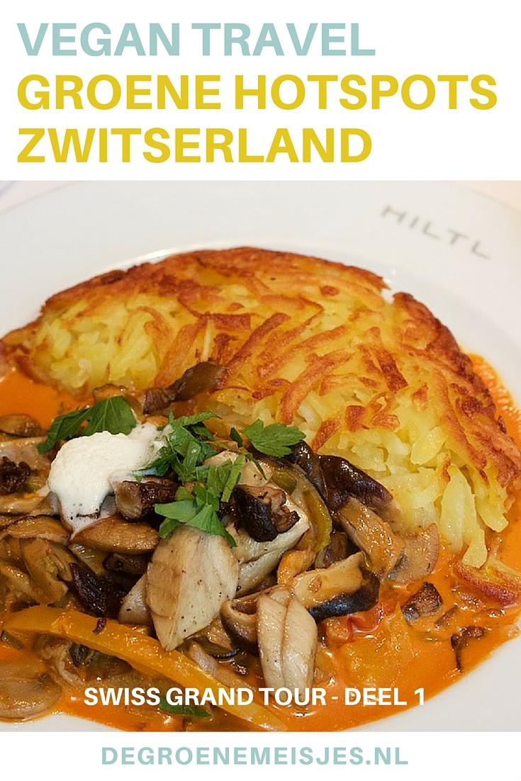 Swiss Grand Tour. Zwitserland, Zürich. Ontdekking van de dag was  het 100% vegetarische (en voor een groot deel vegan) restaurant Hiltl. Het eerste vegetarische restaurant van Europa.