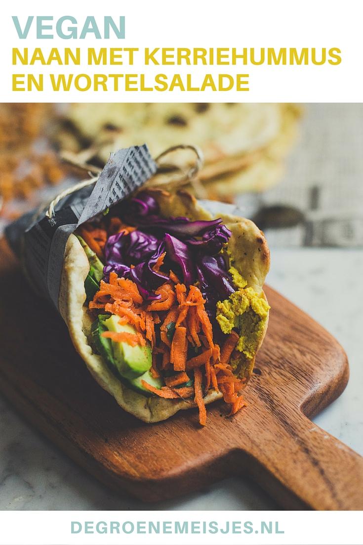 Vegan recept voor simpel en snel Naan brood met kerriehummus en gekruide wortelsalade. Dit naanbrood is ook heerlijk bij een pan curry, een kop soep of met een sojayoghurtdip, bij de borrel. Een ideaal basisrecept dat iedereen eens moet proberen!