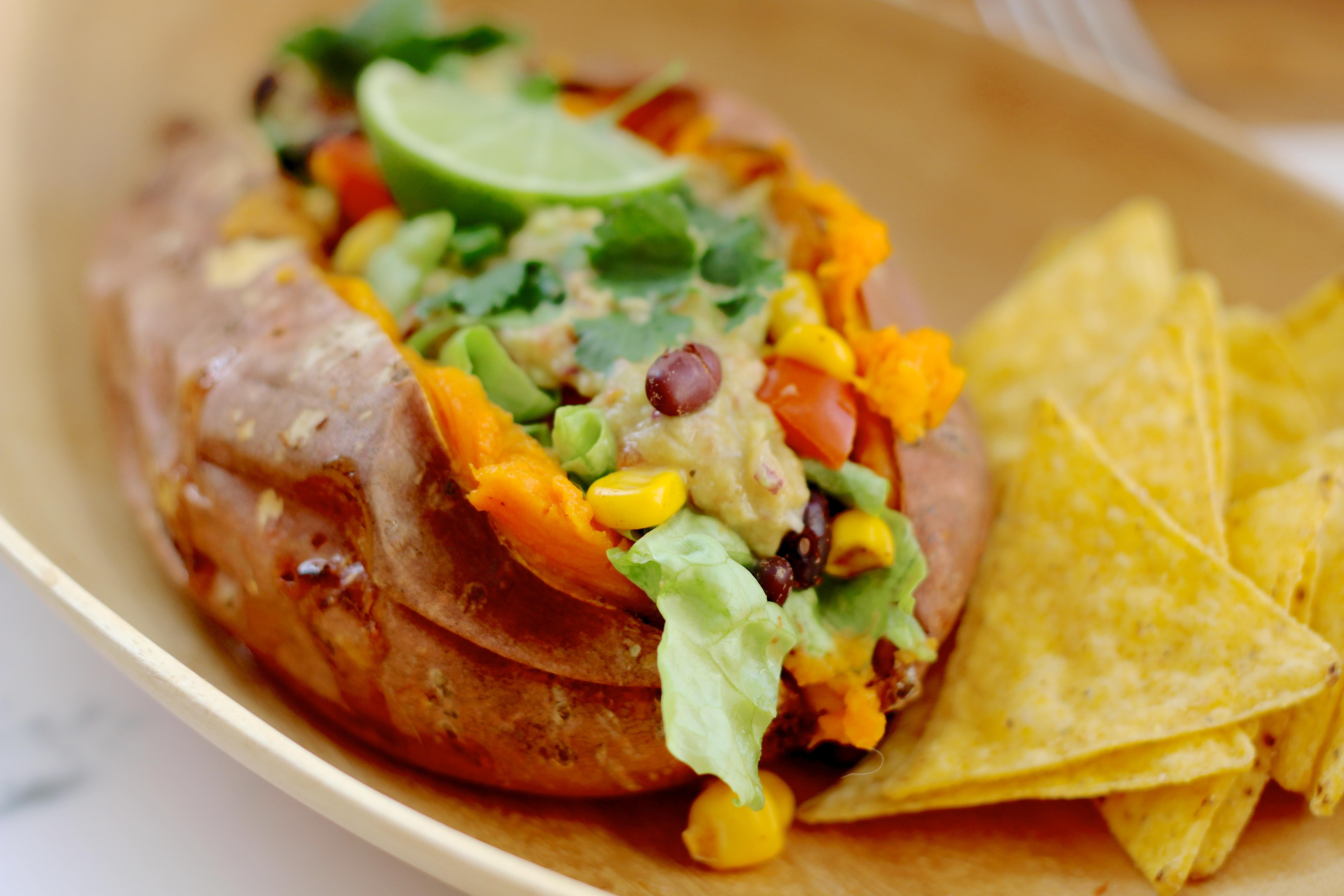 zoete aardappel oven vegetarisch