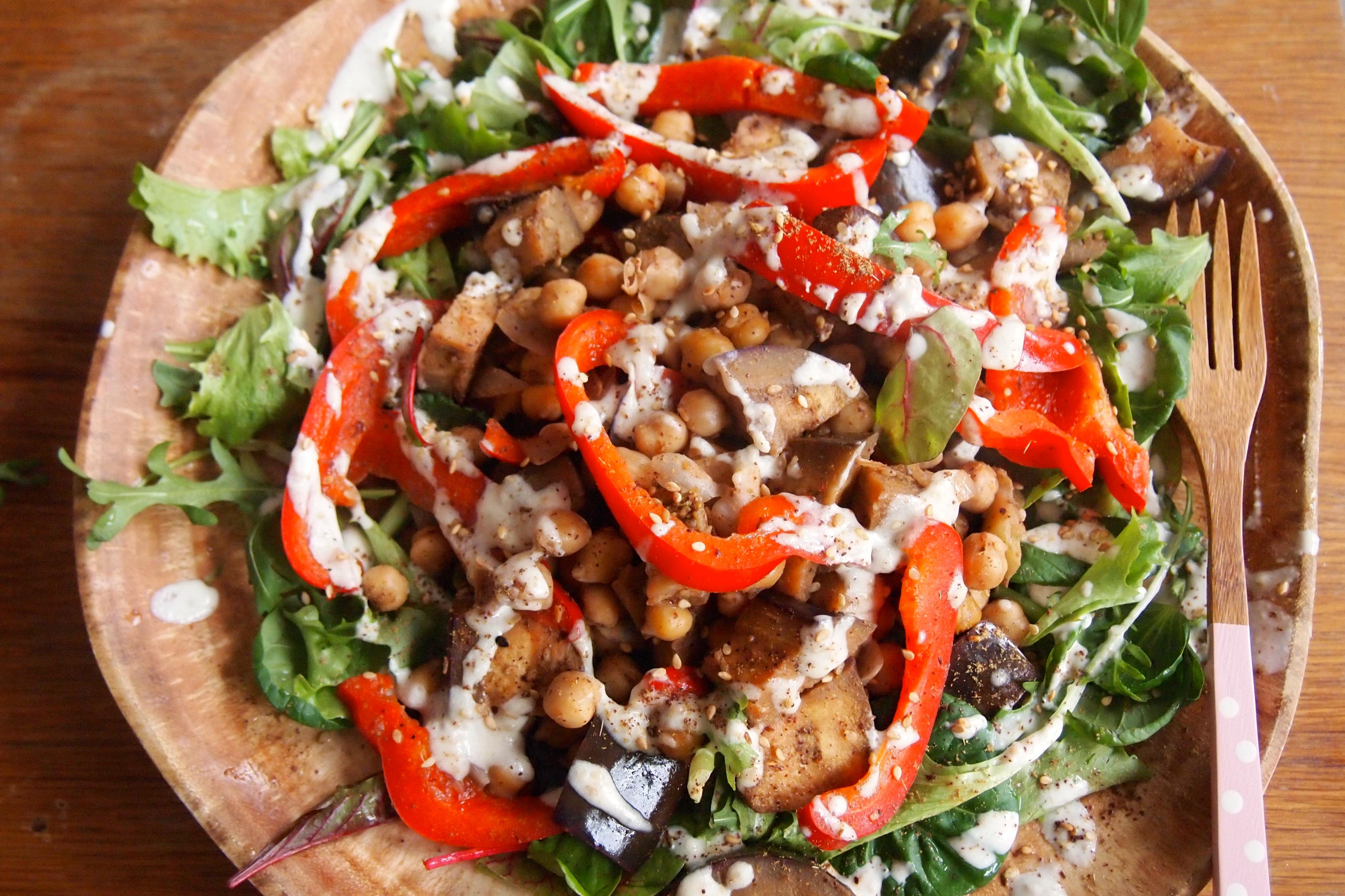 recept salade met kikkererwten
