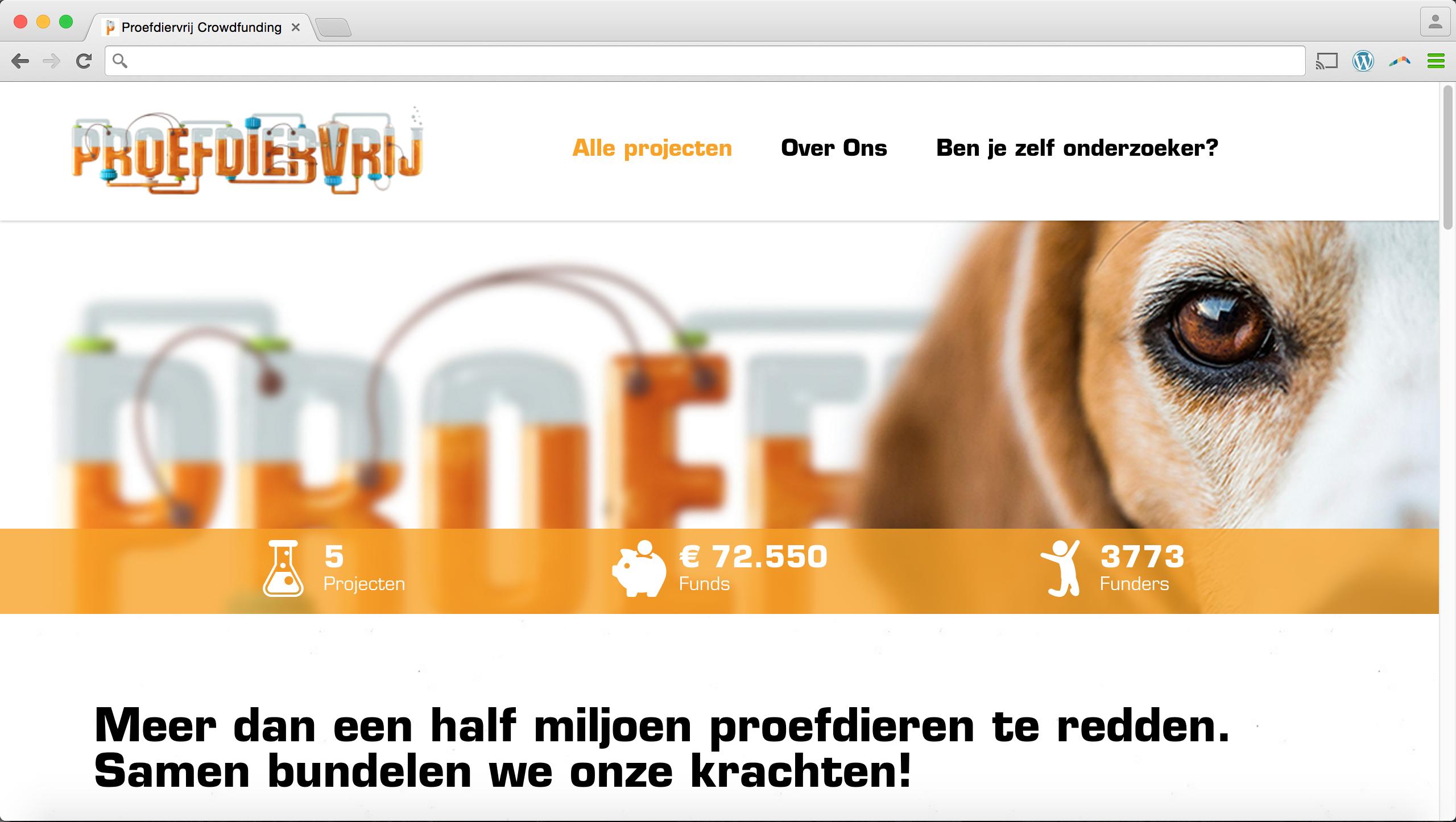 Proefdiervrij-screenshot platform 1