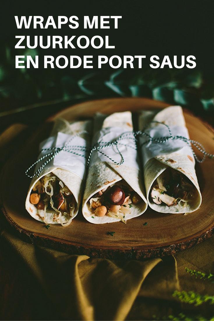 Recept zuurkool: wraps met zuurkool en portsaus. Port? Gezond en vegan eten met producten van de Aldi. Lees het recept op de blog. Foto door Aline Bouma.