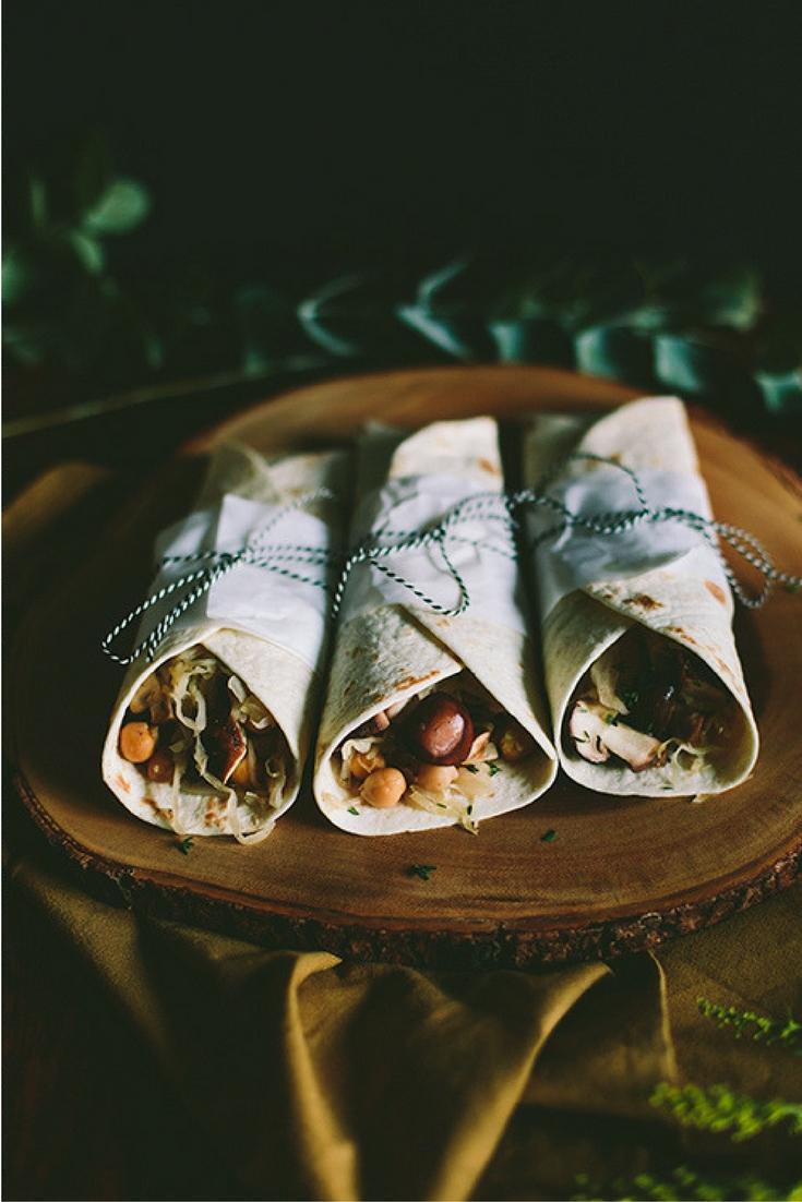 Recept wraps met zuurkool en portsaus. Port? Gezond en vegan eten met producten van de Aldi. Lees het recept op de blog. Foto door Aline Bouma.