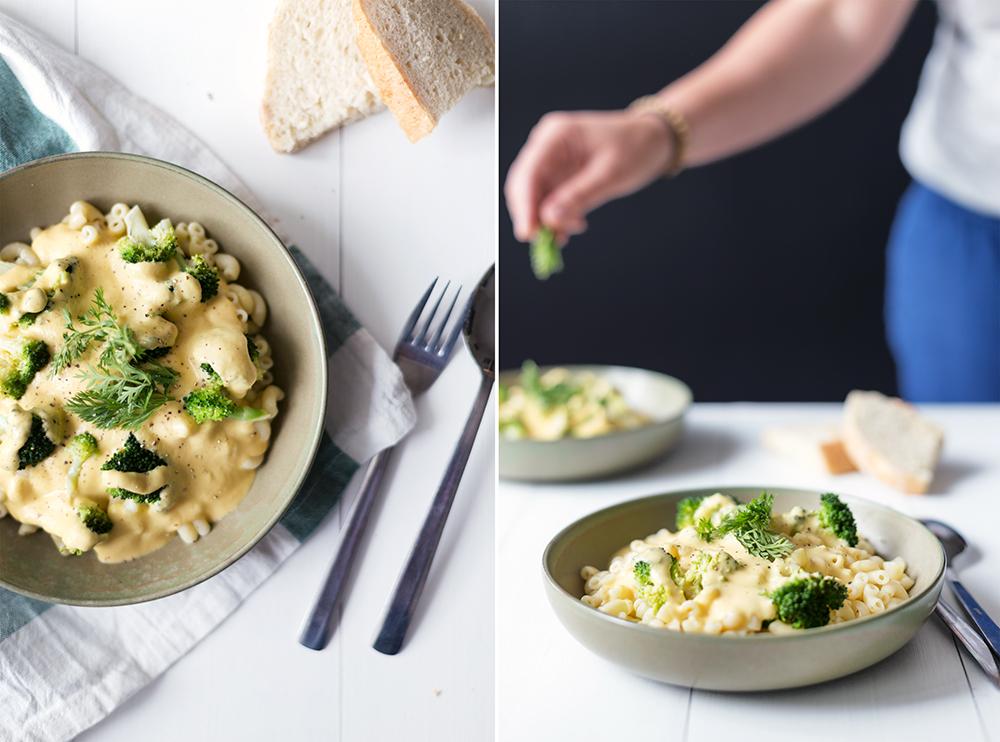 vegan macaroni met kaassaus