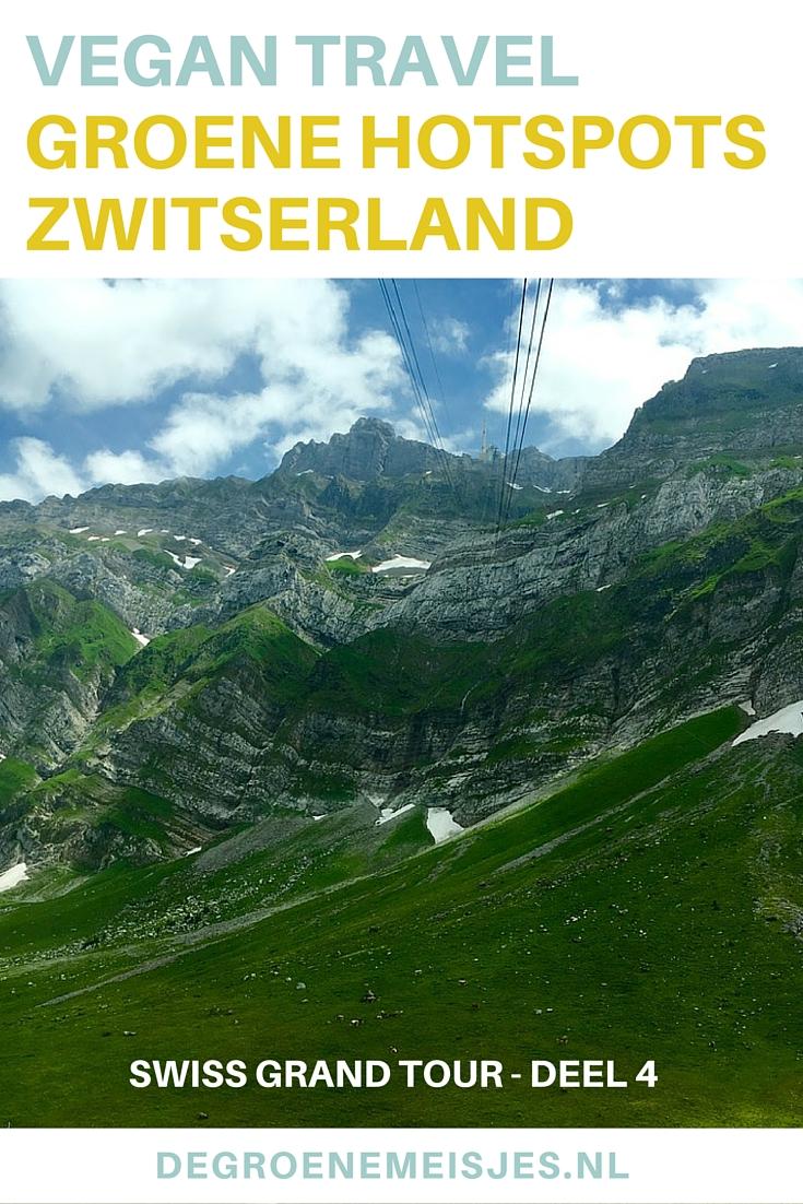 Zwitersland, ik keek er naar uit om de bergen te zien. Dit werd een bijzondere ervaring, met de kabelbaan omhoog.