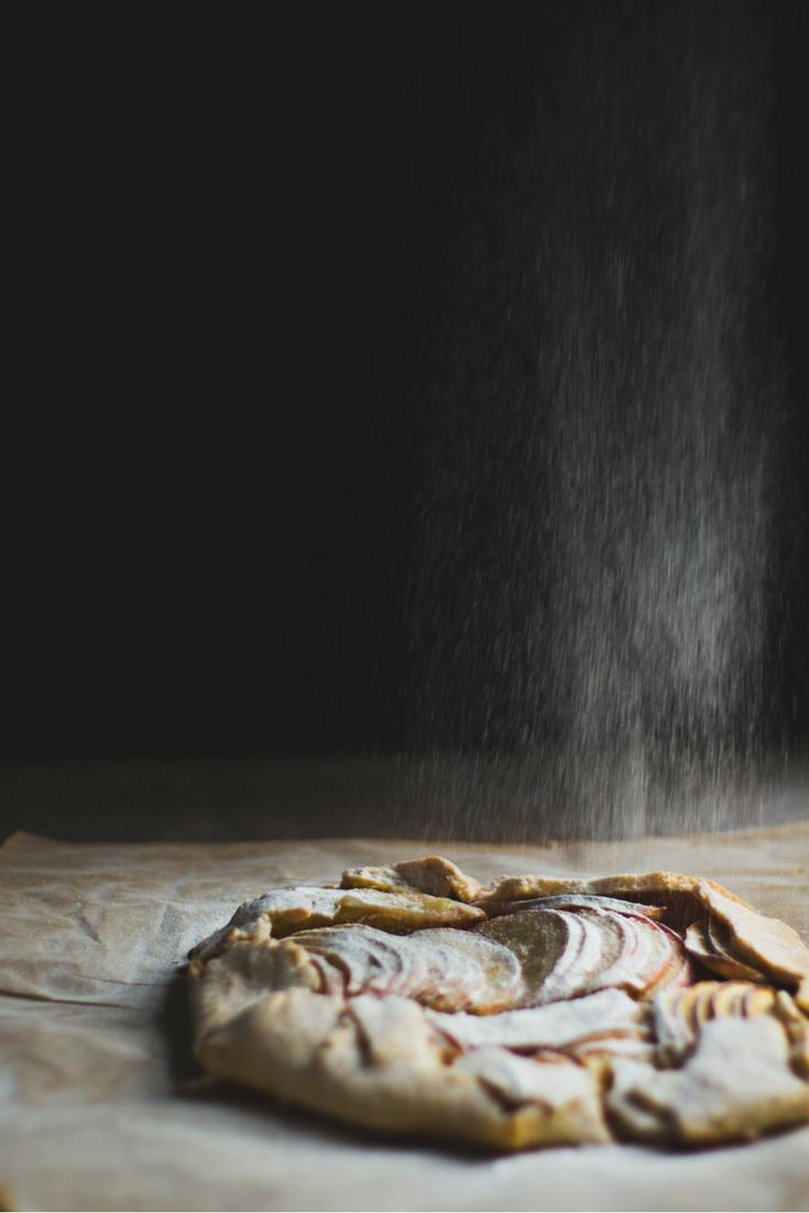 Recept voor een overheerlijk, ambachtelijk appeltaartje #appeltaart #vegan #veganfood #taart