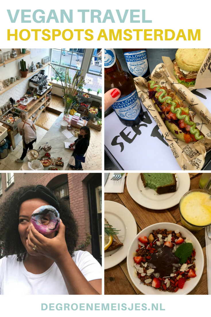 Als ik in Amsterdam ben, dan probeer ik steeds een toffe (nieuwe) plek te bezoeken. Ik besloot wat adressen (hotspots) voor jullie te bundelen. Plekken waar ik de afgelopen maanden ben geweest en waar ik lekker vegan heb gegeten. Komen ze! O.a. Vegan Junk Food Bar, Benji's, Pluk en nog veel meerl