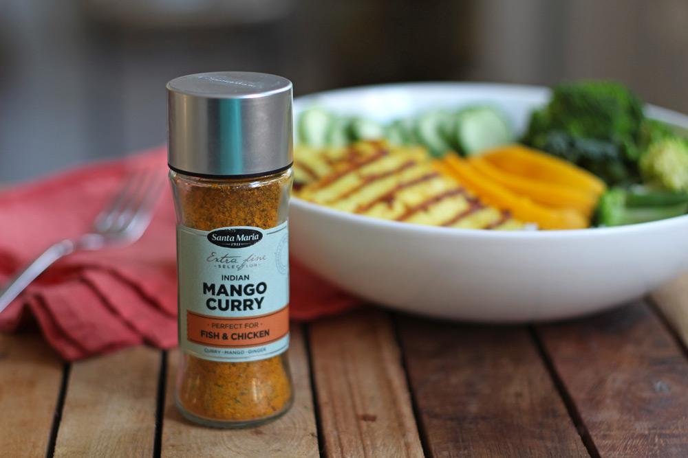 Curry mango tofu bowl - De Groene Meisjes