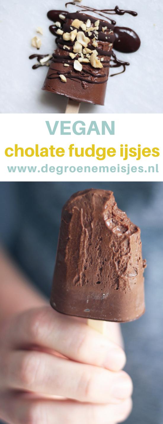Maak ook deze vegan chocolade fudge ijsjes. Vegan chocolade fudge ijsjes, gemaakt door Susan van het blog Mesa Verde. Makkelijk om te maken en ook nog wel een béétje verantwoord om te eten