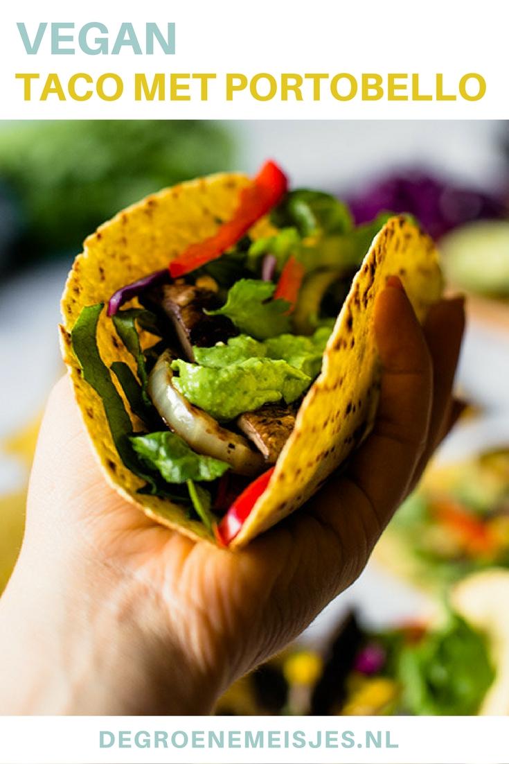Vegan taco's gevuld met gegrilde portobello. Lees het recept op de blog.