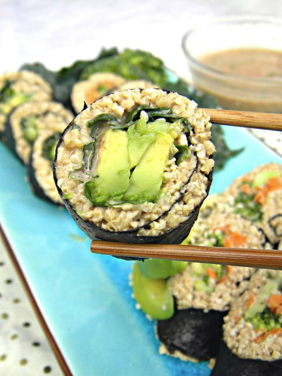 riceless-sushi-with-spicy-almond-satay
