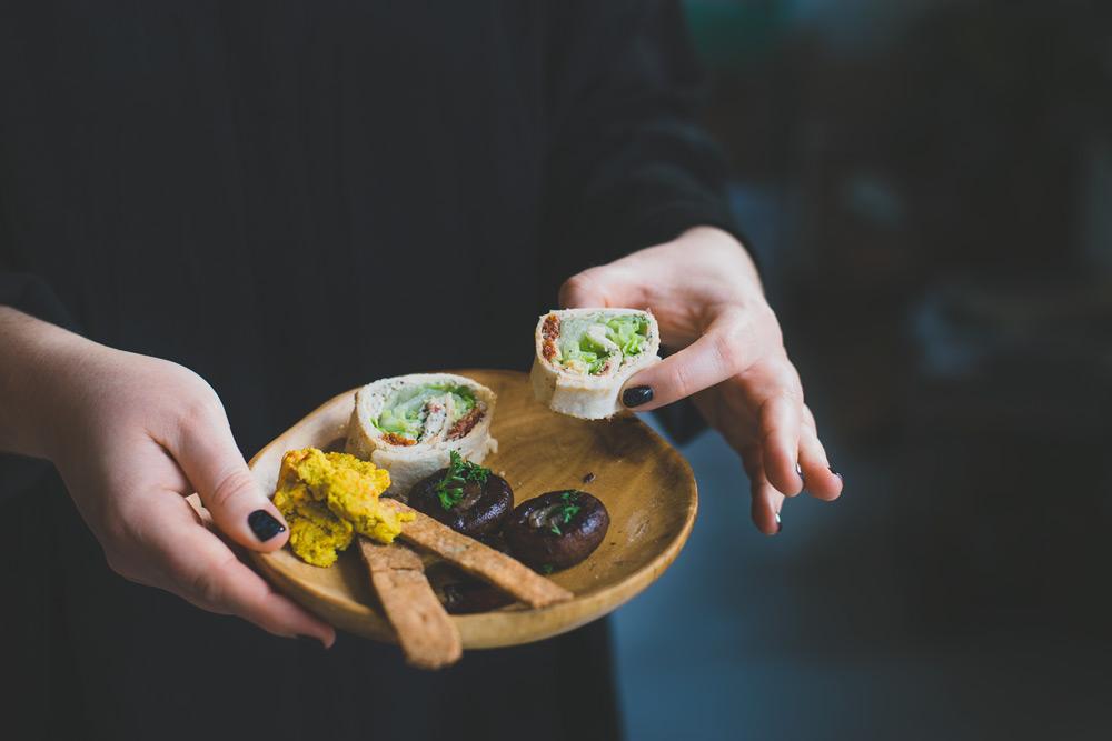 spaanse wraps met spinazie
