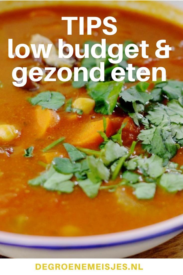 Recepten en tips om gezond en goedkoop lowbudget te eten #goedkoop #gezond #recepten