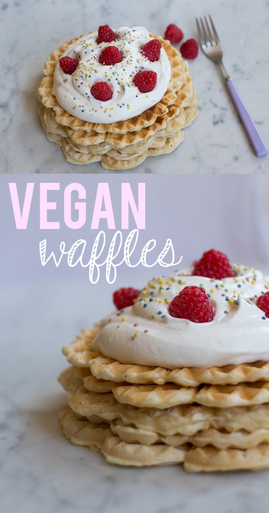 Who said you can't enjoy some amazing waffles when you are vegan?! 2 recipes: the healthy and not-so-healthy version!