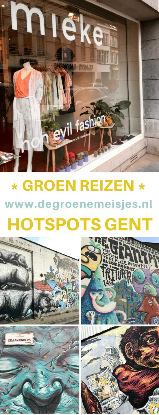 Weekend tripje Gent in België. Met tips voor leuke vegan en groene adresjes, restaurants, koffie en winkels. En street art natuurlijk. #Gent